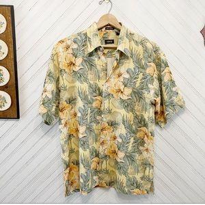 Izod Silk Floral Button Down Shirt